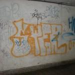 Graffiti znečištění Praha