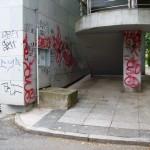 Graffiti znečištění fasády Praha